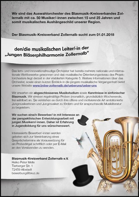 KVJO, Dirigent, Junge Bläserphilharmonie Zollernalb